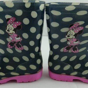 Disney Minnie Mouse Girl's Rubber Rain Boots